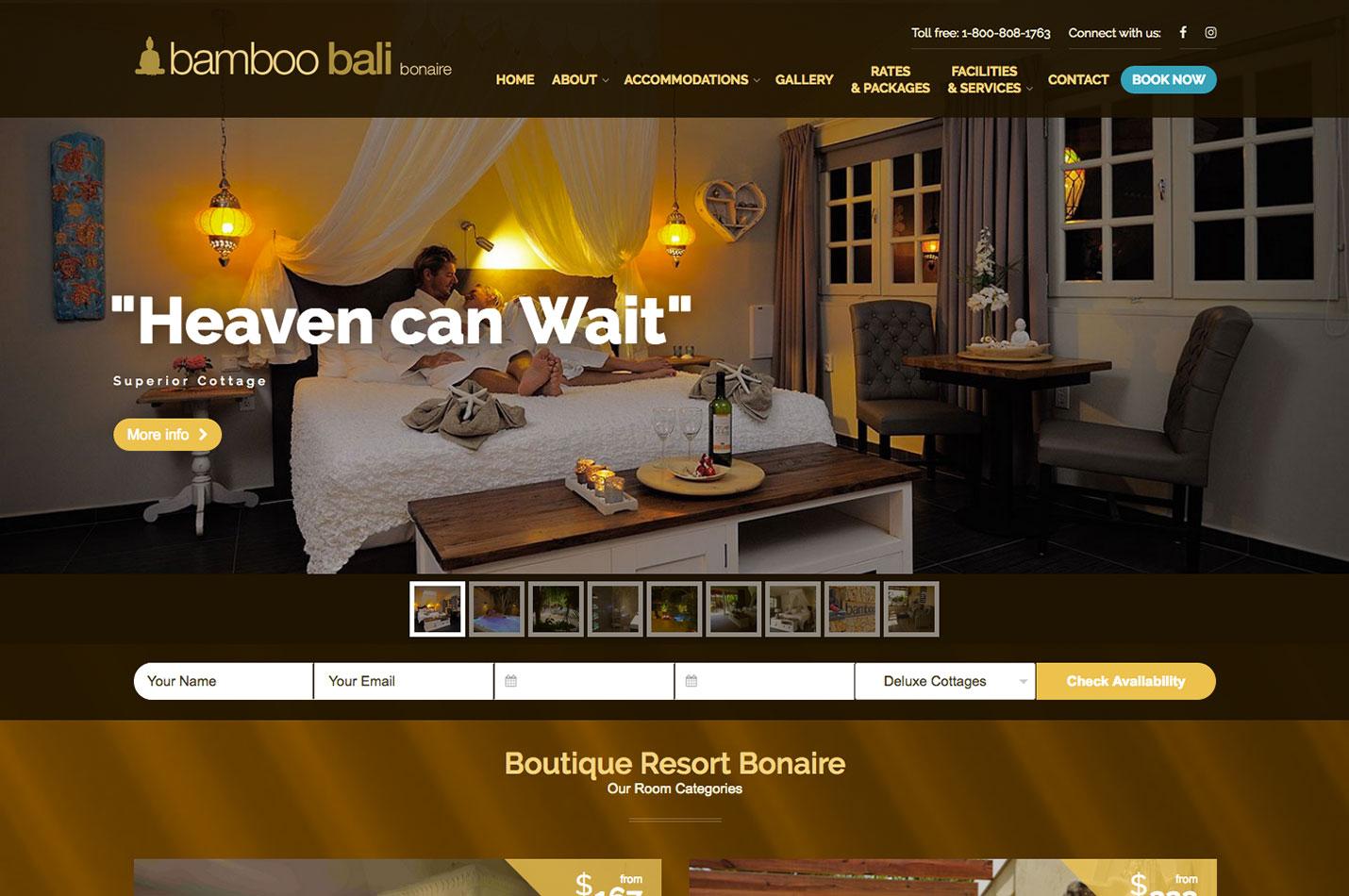 bamboo-bali bonaire website design